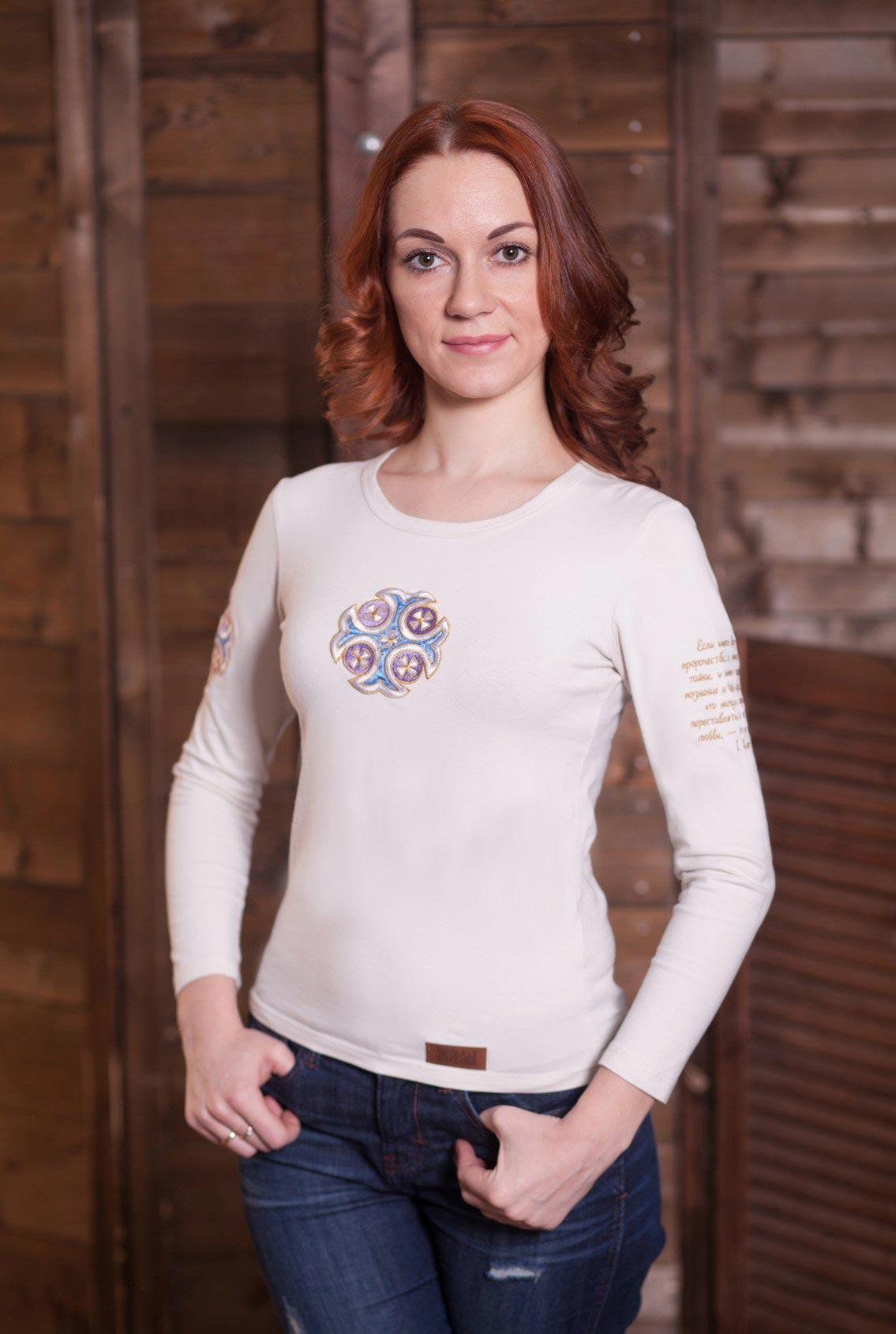 женская футболка с православной символикой, women's T-shirt with orthodox symbols