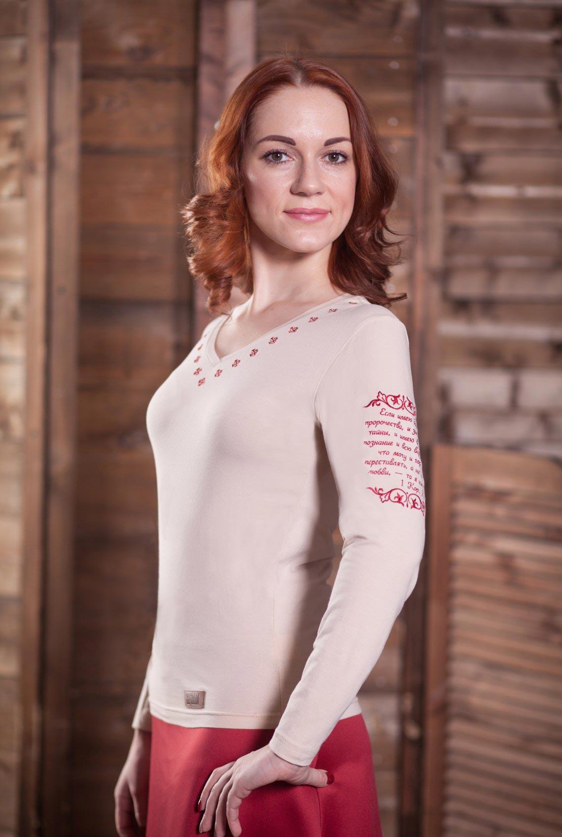 женская футболка с православным крестом, women's t-shirt with an Orthodox cross
