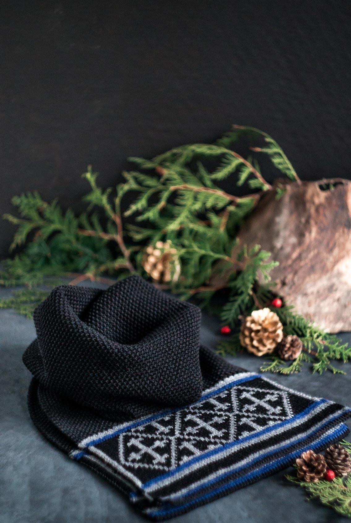 вязаный шарф, knitted scarf