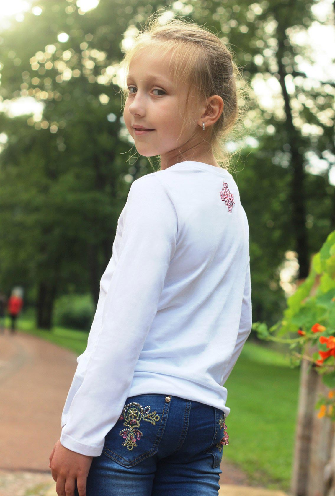 одежда для девочки с вышивкой, clothes for girls with embroidery