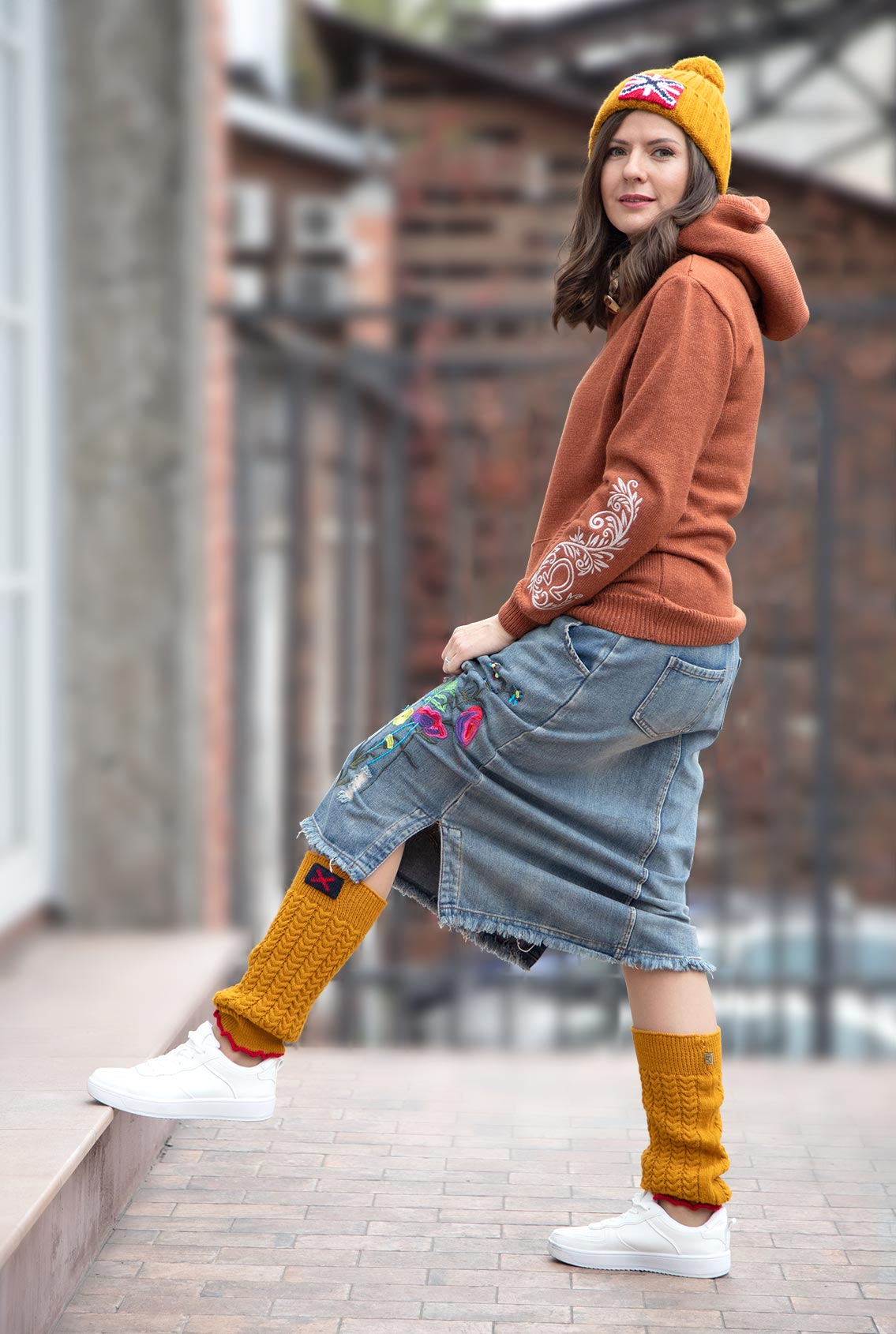 Гетры с крестиком , Leg warmers with cross