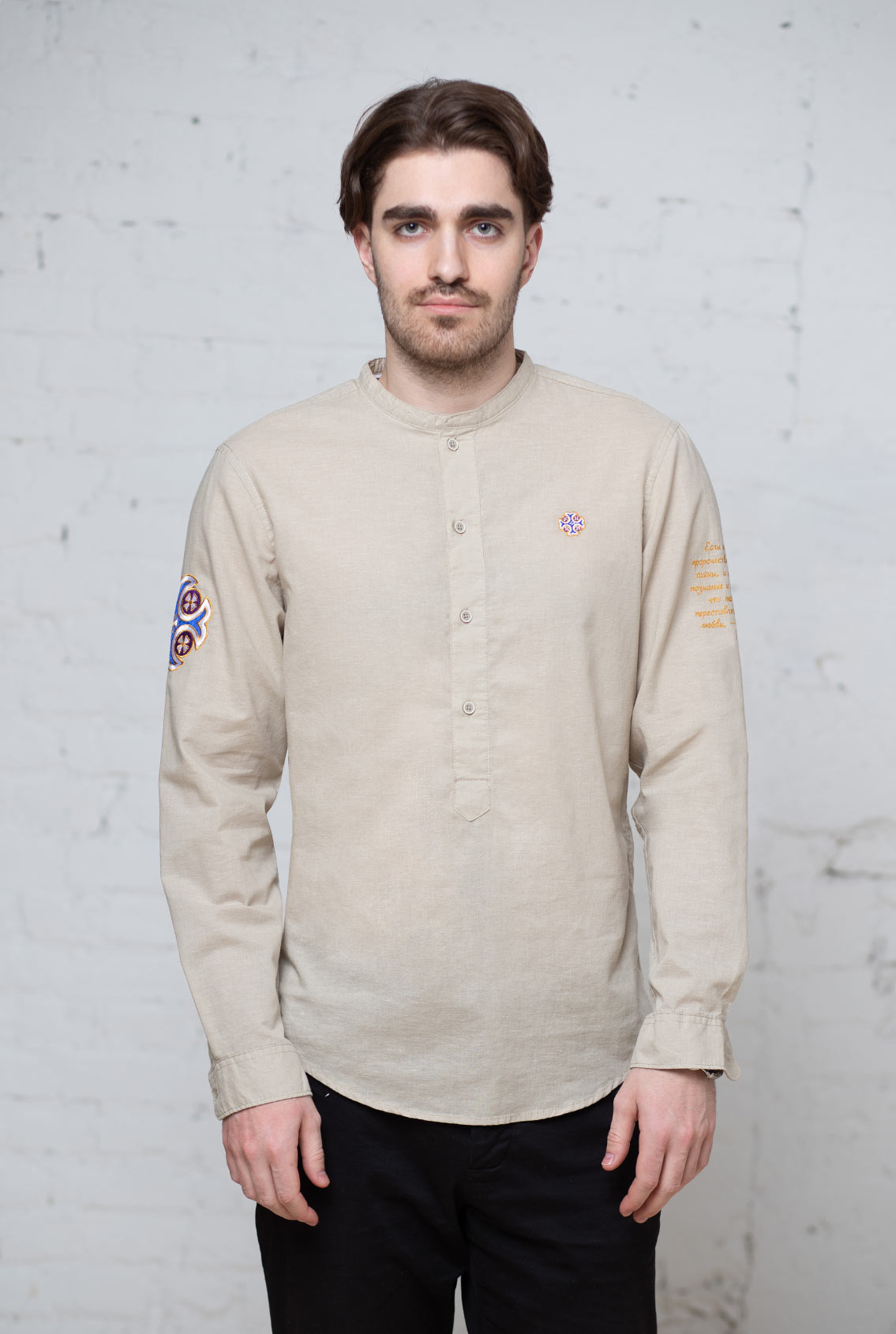 мужская православная рубашка, man's orthodox shirt