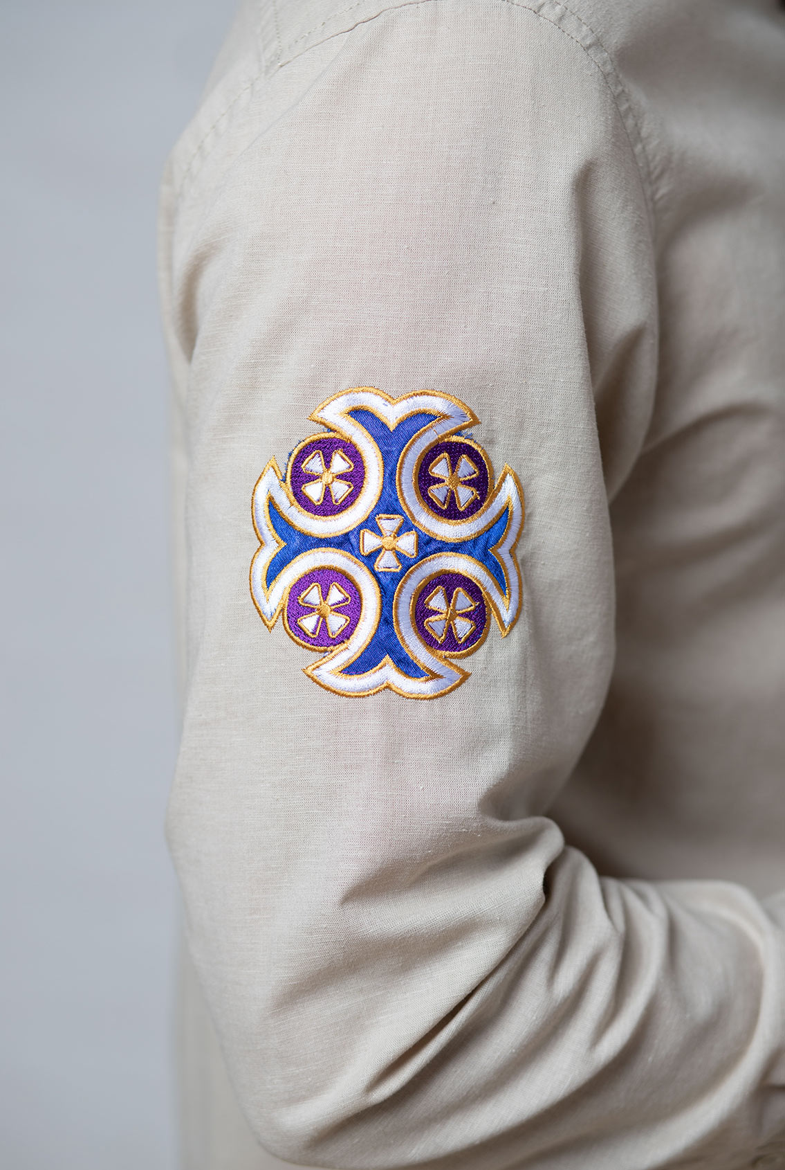 рубашка с крестом, shirt with a cross