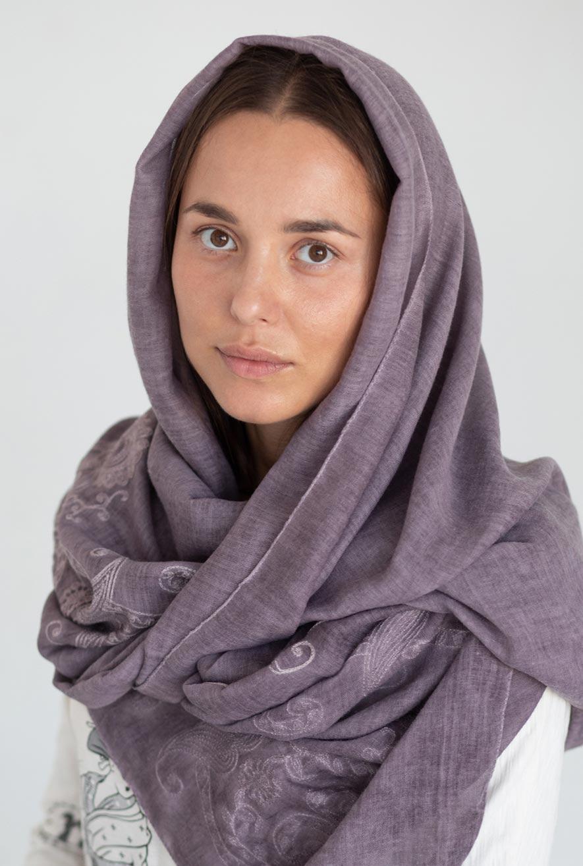 однотонный платок