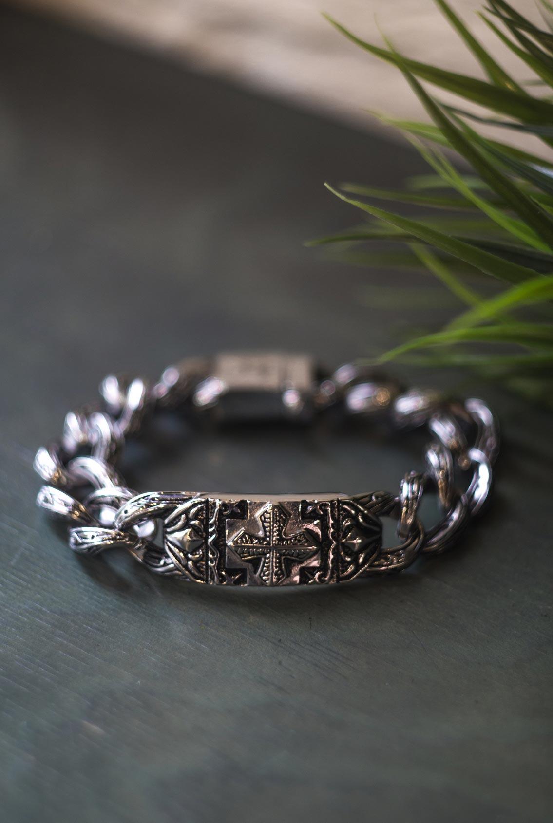 браслет с православным крестом