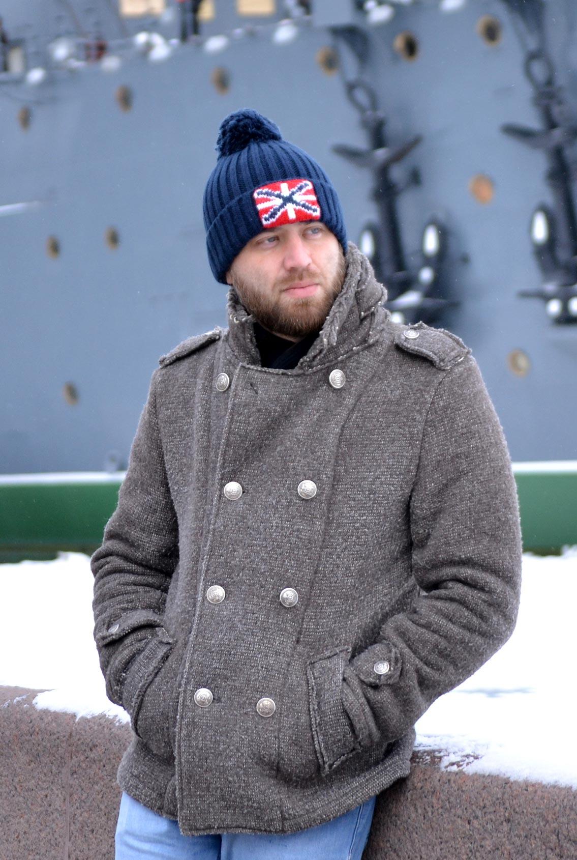 шапка с флагом, hat with flag