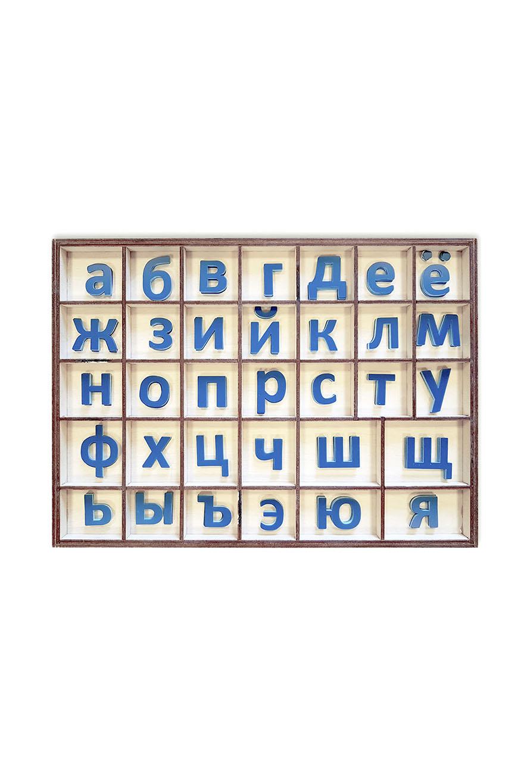 Подвижный печатный алфавит (синие буквы)