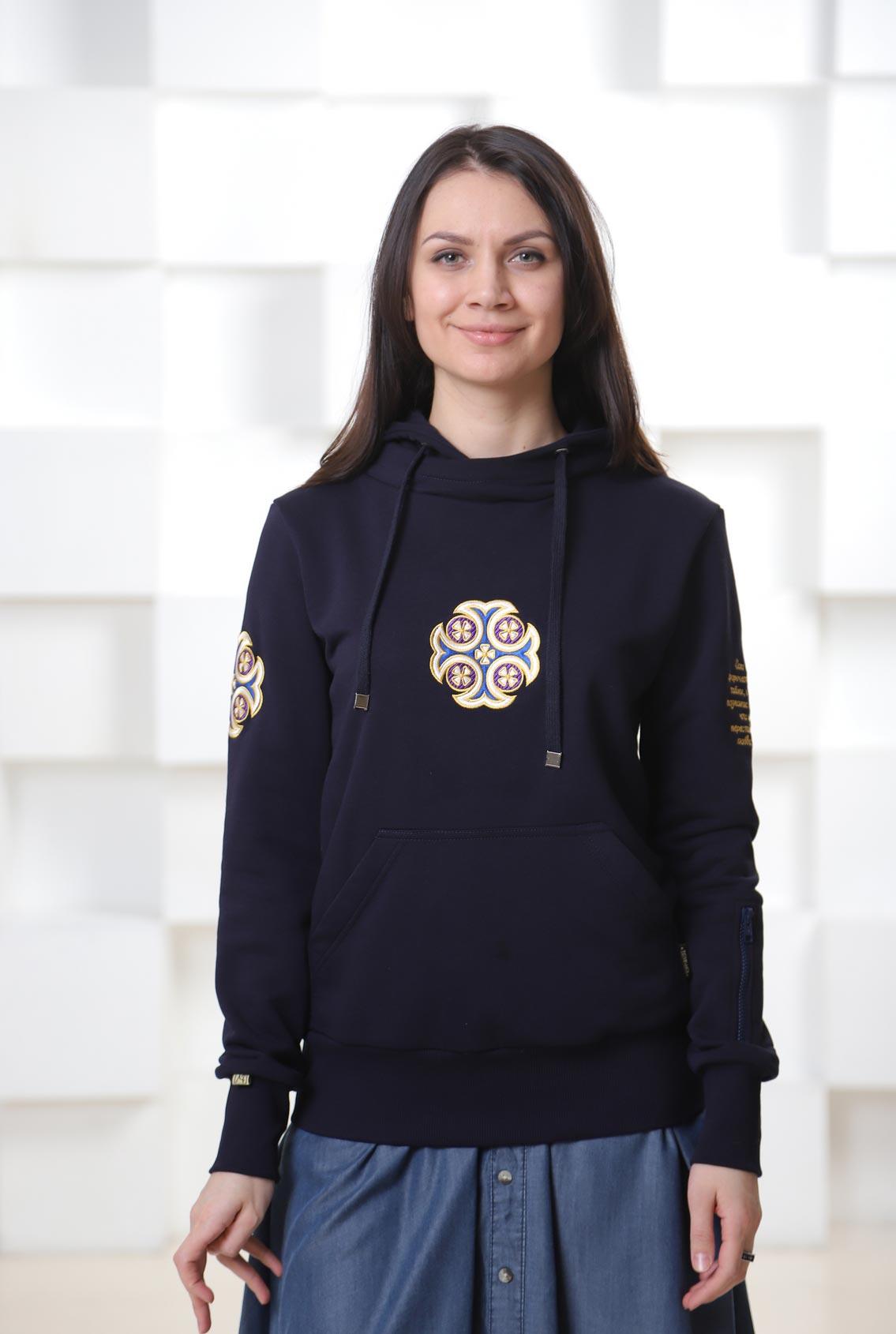 Свитшот с крестом, Cross sweatshirt
